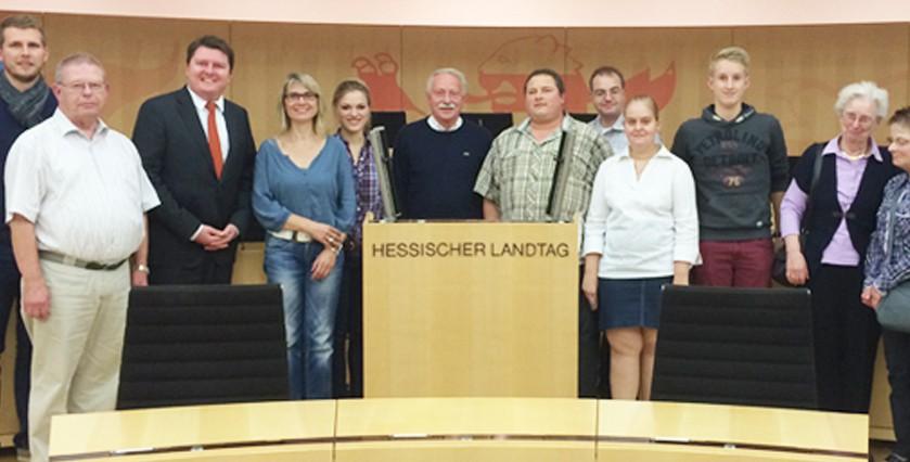 SPD Lorch besuchte Hessischen Landtag