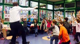 Marius Weiß las am Vorlesetag an zwei Grundschulen in Taunusstein vor